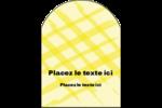 Entrelacs jaunes Étiquettes arrondies - gabarit prédéfini. <br/>Utilisez notre logiciel Avery Design & Print Online pour personnaliser facilement la conception.