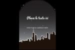 Ville nocturne Étiquettes arrondies - gabarit prédéfini. <br/>Utilisez notre logiciel Avery Design & Print Online pour personnaliser facilement la conception.