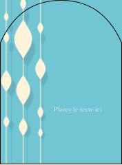 """4¾"""" x 3½"""" Étiquettes arrondies - Rideau de perles bleues"""