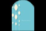 Rideau de perles bleues Étiquettes arrondies - gabarit prédéfini. <br/>Utilisez notre logiciel Avery Design & Print Online pour personnaliser facilement la conception.