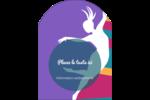 Danse en couleur Étiquettes arrondies - gabarit prédéfini. <br/>Utilisez notre logiciel Avery Design & Print Online pour personnaliser facilement la conception.