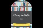 Rayons de bibliothèque Étiquettes arrondies - gabarit prédéfini. <br/>Utilisez notre logiciel Avery Design & Print Online pour personnaliser facilement la conception.