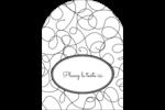 Gribouillis Étiquettes arrondies - gabarit prédéfini. <br/>Utilisez notre logiciel Avery Design & Print Online pour personnaliser facilement la conception.