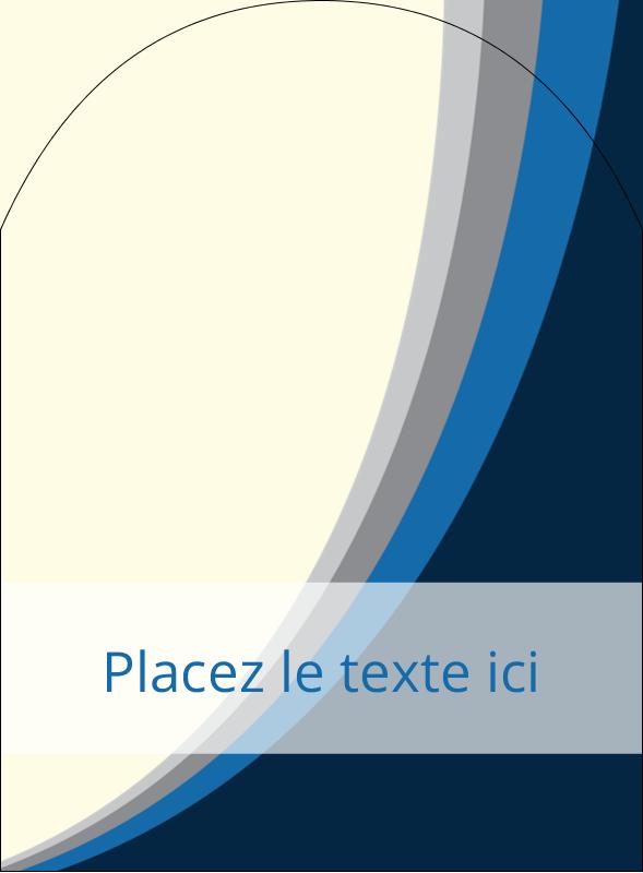 """4¾"""" x 3½"""" Étiquettes arrondies - Vague bleue"""