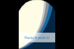 Vague bleue Étiquettes arrondies - gabarit prédéfini. <br/>Utilisez notre logiciel Avery Design & Print Online pour personnaliser facilement la conception.