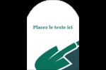 Pelle de jardin Étiquettes arrondies - gabarit prédéfini. <br/>Utilisez notre logiciel Avery Design & Print Online pour personnaliser facilement la conception.