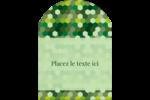 Hexagones verts Étiquettes arrondies - gabarit prédéfini. <br/>Utilisez notre logiciel Avery Design & Print Online pour personnaliser facilement la conception.