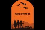 Enfants à l'Halloween Étiquettes arrondies - gabarit prédéfini. <br/>Utilisez notre logiciel Avery Design & Print Online pour personnaliser facilement la conception.