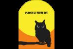 Chouette d'Halloween Étiquettes arrondies - gabarit prédéfini. <br/>Utilisez notre logiciel Avery Design & Print Online pour personnaliser facilement la conception.