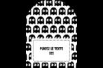 Fantômes Pac-Man d'Halloween Étiquettes arrondies - gabarit prédéfini. <br/>Utilisez notre logiciel Avery Design & Print Online pour personnaliser facilement la conception.