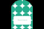 Cercles vert sarcelle Étiquettes arrondies - gabarit prédéfini. <br/>Utilisez notre logiciel Avery Design & Print Online pour personnaliser facilement la conception.