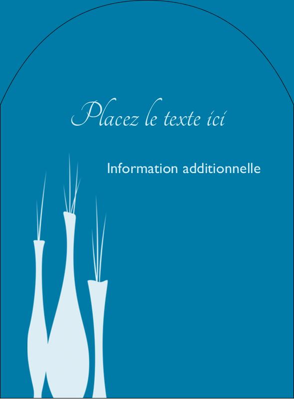 """4¾"""" x 3½"""" Étiquettes arrondies - Vase design d'intérieur"""