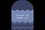 Chevron bleu Étiquettes arrondies - gabarit prédéfini. <br/>Utilisez notre logiciel Avery Design & Print Online pour personnaliser facilement la conception.