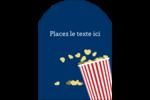 Popcorn et film Étiquettes arrondies - gabarit prédéfini. <br/>Utilisez notre logiciel Avery Design & Print Online pour personnaliser facilement la conception.