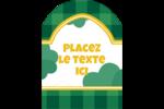 Trèfles en cœur de la Saint-Patrick Étiquettes arrondies - gabarit prédéfini. <br/>Utilisez notre logiciel Avery Design & Print Online pour personnaliser facilement la conception.