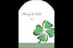 Trèfle de la Saint-Patrick Étiquettes arrondies - gabarit prédéfini. <br/>Utilisez notre logiciel Avery Design & Print Online pour personnaliser facilement la conception.