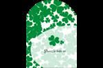 Arrière-plan de trèfles de la Saint-Patrick Étiquettes arrondies - gabarit prédéfini. <br/>Utilisez notre logiciel Avery Design & Print Online pour personnaliser facilement la conception.