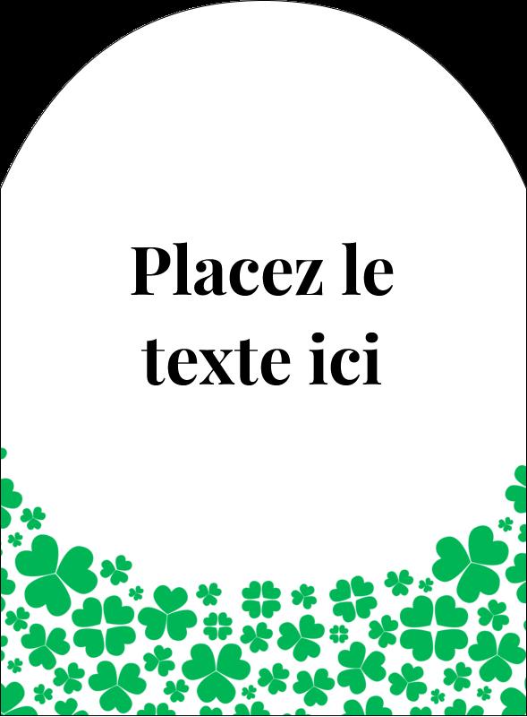 """4¾"""" x 3½"""" Étiquettes arrondies - Pluie de trèfles de la Saint-Patrick"""