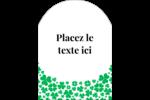 Pluie de trèfles de la Saint-Patrick Étiquettes arrondies - gabarit prédéfini. <br/>Utilisez notre logiciel Avery Design & Print Online pour personnaliser facilement la conception.