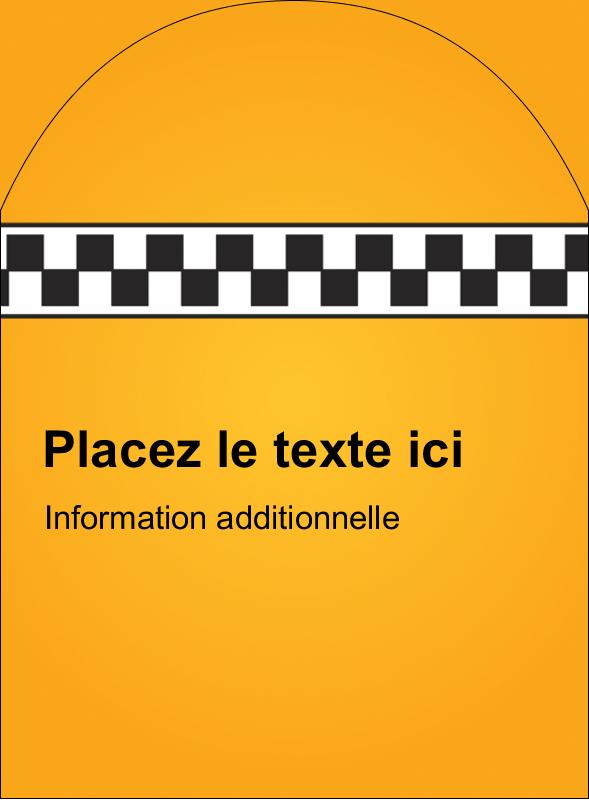 """4¾"""" x 3½"""" Étiquettes arrondies - Échiquier taxi"""