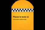 Échiquier taxi Étiquettes arrondies - gabarit prédéfini. <br/>Utilisez notre logiciel Avery Design & Print Online pour personnaliser facilement la conception.