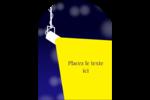 Projecteur sur fond bleu Étiquettes arrondies - gabarit prédéfini. <br/>Utilisez notre logiciel Avery Design & Print Online pour personnaliser facilement la conception.