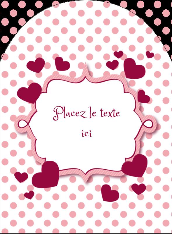 """4¾"""" x 3½"""" Étiquettes arrondies - Bulles de Saint-Valentin"""