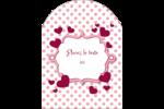 Bulles de Saint-Valentin Étiquettes arrondies - gabarit prédéfini. <br/>Utilisez notre logiciel Avery Design & Print Online pour personnaliser facilement la conception.