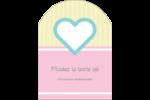 Cœur bleu Étiquettes arrondies - gabarit prédéfini. <br/>Utilisez notre logiciel Avery Design & Print Online pour personnaliser facilement la conception.