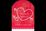 Dessin de la Saint-Valentin Étiquettes arrondies - gabarit prédéfini. <br/>Utilisez notre logiciel Avery Design & Print Online pour personnaliser facilement la conception.