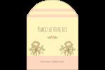 Dessin floral Étiquettes arrondies - gabarit prédéfini. <br/>Utilisez notre logiciel Avery Design & Print Online pour personnaliser facilement la conception.