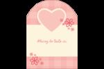 Guingan de la Saint-Valentin Étiquettes arrondies - gabarit prédéfini. <br/>Utilisez notre logiciel Avery Design & Print Online pour personnaliser facilement la conception.