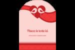 Oiseaux amoureux Étiquettes arrondies - gabarit prédéfini. <br/>Utilisez notre logiciel Avery Design & Print Online pour personnaliser facilement la conception.