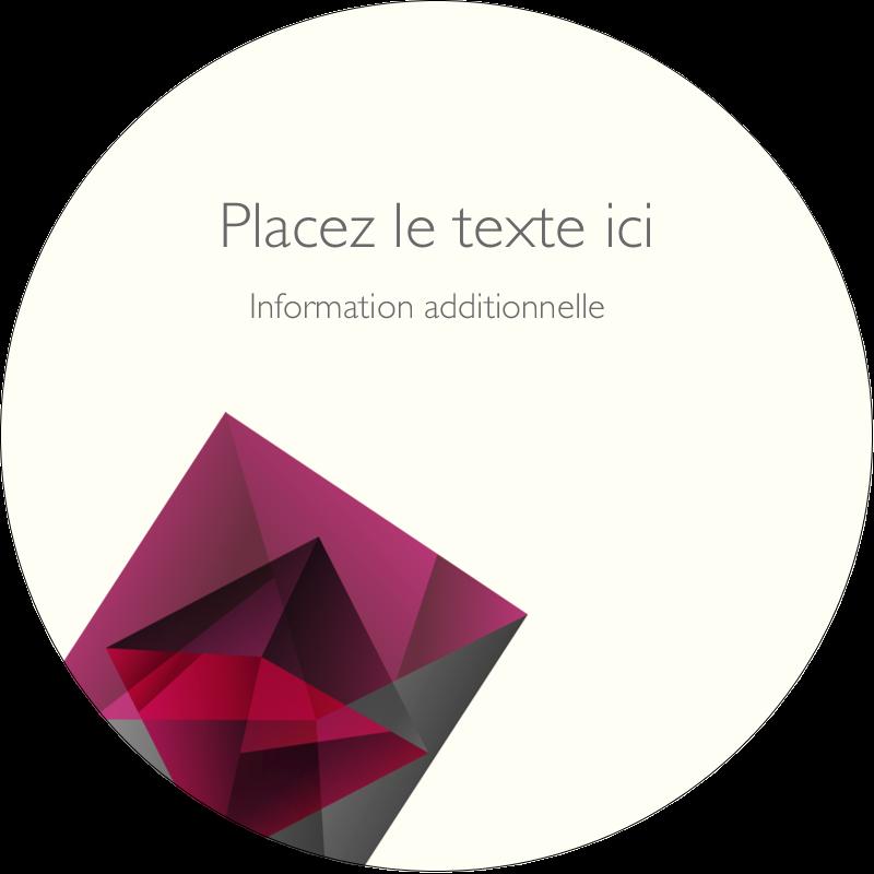"""3"""" Diameter Étiquettes rondes - Pierres de rubis"""