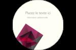 Pierres de rubis  Étiquettes rondes - gabarit prédéfini. <br/>Utilisez notre logiciel Avery Design & Print Online pour personnaliser facilement la conception.
