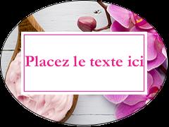 Glaçage et orchidée rose Étiquettes ovales - gabarit prédéfini. <br/>Utilisez notre logiciel Avery Design & Print Online pour personnaliser facilement la conception.
