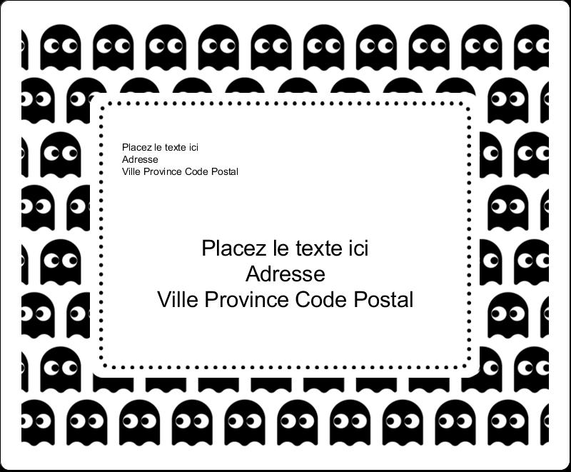 """3⅓"""" x 4"""" Étiquettes d'expédition - Fantômes Pac-Man d'Halloween"""