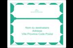 Cercles vert sarcelle Étiquettes d'expédition - gabarit prédéfini. <br/>Utilisez notre logiciel Avery Design & Print Online pour personnaliser facilement la conception.