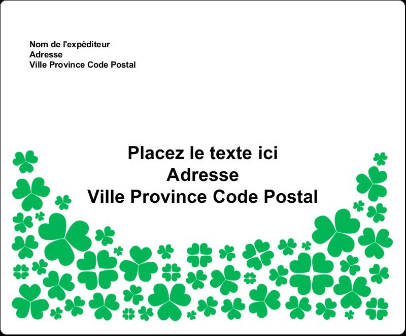 """3⅓"""" x 4"""" Étiquettes d'expédition - Pluie de trèfles de la Saint-Patrick"""
