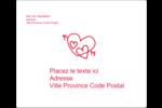 Dessin de la Saint-Valentin Étiquettes d'expédition - gabarit prédéfini. <br/>Utilisez notre logiciel Avery Design & Print Online pour personnaliser facilement la conception.