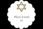 Rouleau de la Torah Étiquettes festonnées - gabarit prédéfini. <br/>Utilisez notre logiciel Avery Design & Print Online pour personnaliser facilement la conception.