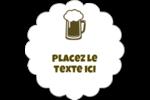 Image de bière Étiquettes festonnées - gabarit prédéfini. <br/>Utilisez notre logiciel Avery Design & Print Online pour personnaliser facilement la conception.