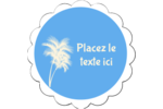 Palm Beach Étiquettes festonnées - gabarit prédéfini. <br/>Utilisez notre logiciel Avery Design & Print Online pour personnaliser facilement la conception.