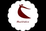 Danseuse rouge Étiquettes festonnées - gabarit prédéfini. <br/>Utilisez notre logiciel Avery Design & Print Online pour personnaliser facilement la conception.