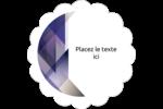 Prisme de verre Étiquettes festonnées - gabarit prédéfini. <br/>Utilisez notre logiciel Avery Design & Print Online pour personnaliser facilement la conception.