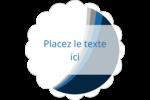 Vague bleue Étiquettes festonnées - gabarit prédéfini. <br/>Utilisez notre logiciel Avery Design & Print Online pour personnaliser facilement la conception.