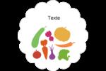 Panier de légumes Étiquettes festonnées - gabarit prédéfini. <br/>Utilisez notre logiciel Avery Design & Print Online pour personnaliser facilement la conception.
