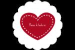 Cœur de Saint-Valentin Étiquettes festonnées - gabarit prédéfini. <br/>Utilisez notre logiciel Avery Design & Print Online pour personnaliser facilement la conception.