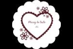 Guingan de la Saint-Valentin Étiquettes festonnées - gabarit prédéfini. <br/>Utilisez notre logiciel Avery Design & Print Online pour personnaliser facilement la conception.