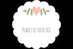 Dessin floral Étiquettes festonnées - gabarit prédéfini. <br/>Utilisez notre logiciel Avery Design & Print Online pour personnaliser facilement la conception.